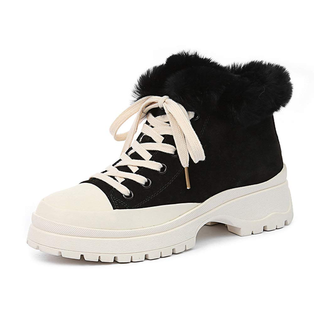 35EU-39EU LXIANGP Womens Boots Snow Boots Martin Boots Spring and Autumn Winter Plus Velvet Short Boots Thick Bottom Outdoor Casual Sports Shoes Ladies