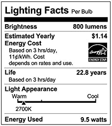 Philips 461228 60 Watt Equivalent Soft White Dimmable A19 LED Light Bulb, Energy Star Certified, 8-Pack