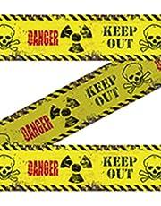 Avspärrband Danger Keep Out 15 m halloween skräck dekoration