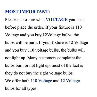 Lot of 10 PCS Dimmable 120V 4W MR16 LED Bulbs - 3200K Warm White LED Spotlights - 40Watt Equivalent - 330 Lumen 60 Degree Beam Angle for Landscape, Recessed, Track lighting