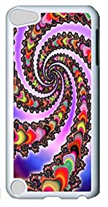 Abstract rotation ID01 Custom iPod Touch 5 Case Cover Polycarbonate White