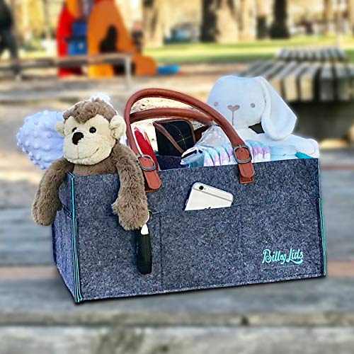 Baby Diaper Caddy Organizer and Stacker - Premium Quality - Baby Shower Gift Basket for Boy and Girl - Newborn Registry Must Haves - Nursery décor by Billy Lids (Image #5)