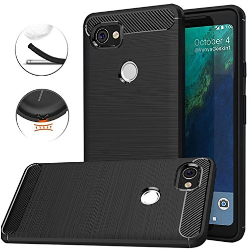 Google Pixel 2 XL Case,Google Pixel2 XL Case,Carbon Fiber Brushed TPU Matl Phone Case Shock Resistant Non-Slip Anti-Scratch Anti-Fingerprint Flexible Full-Body Protective Cover by JDSD