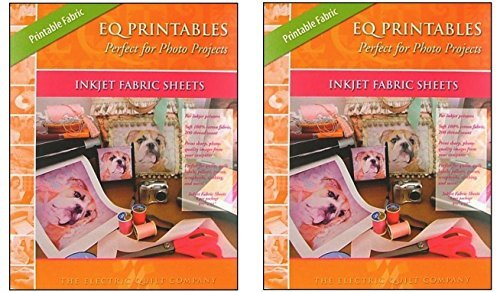 EQ Printables Inkjet Fabric Sheets (2 Pack)