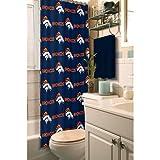 Northwest 1NFL903000004RET Nor-1NFL903000004RET Denver Broncos NFL Shower Curtain NFL 903 Broncos Shower Curtain