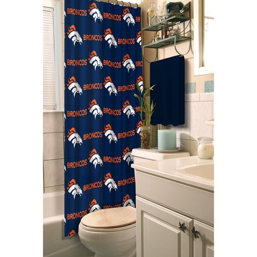Northwest NOR-1NFL903000004RET Denver Broncos NFL Shower (Denver Broncos Shower Curtain)