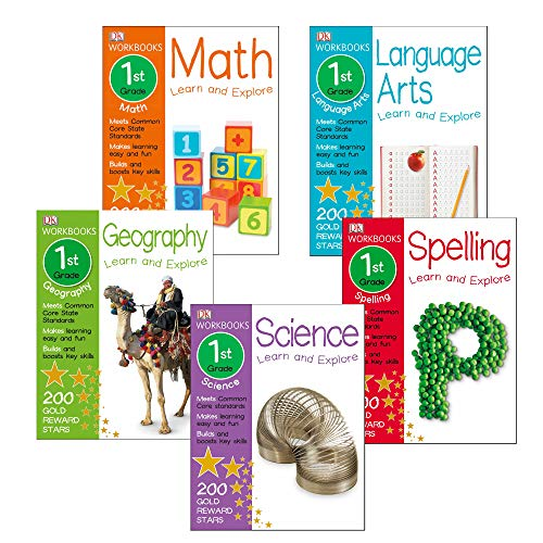 DK Workbook: 1st Grade Curriculum Set of Math,Spelling, Language Arts, Science and ()