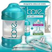 Baby Bottle - Bare Air-Free Feeding System - Combo Pack With Perfe-Latch & Easy-Latch Nipple - 4 Ounce - Use As Instructed Only