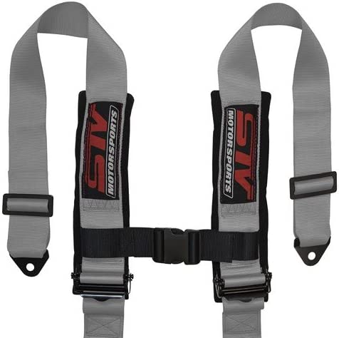 Racing Style Harness For Powersports Black SINGLE
