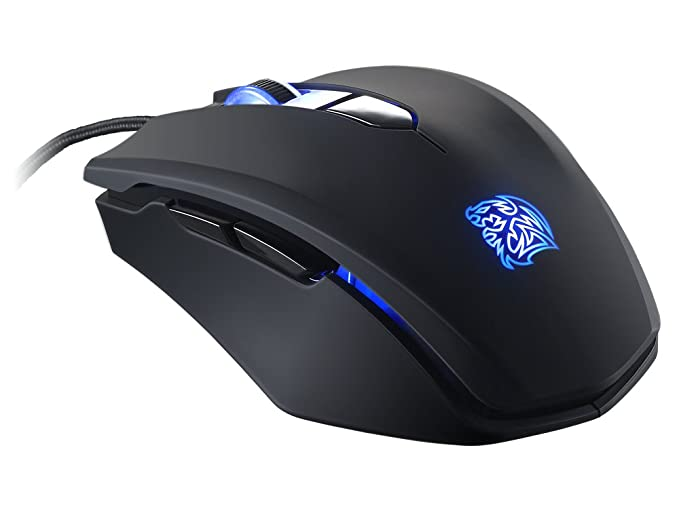 d280c56f58f Amazon.com: Thermaltake Tt e SPORTS Talon Blu 3000 DPI Blue LED Removable  Side Panels Avago 3050 Optical Gaming Mouse MO-TLB-WDOOBK-01: Computers &  ...