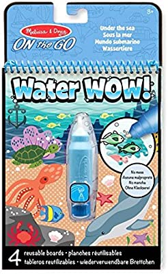 Melissa Doug On The Go Water Wow Water Reveal Activity Pad Under The Sea