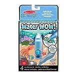 Melissa & Doug On the Go Water Wow! Bajo el mar: bloc revelador reutilizable para colorear con agua, pluma de agua de...