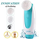 TANAAB Sonic 3 in 1 Facial Cleansing Brush - Oscillating Silicone Cleaner Set Waterproof Gentle for Women & Men Unclog Pores Remove Dead Cells Blackheads Massage & Rejuvenate The Skin Reduce Wrinkle