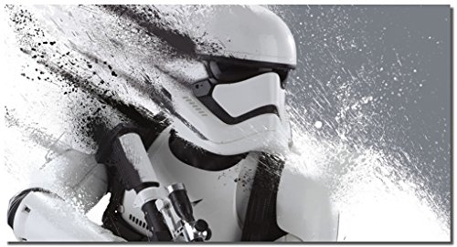 Picture Sensations Framed Canvas Art Print, Star Wars Stormtrooper The Force Awakens Wall Canvas Art - 36