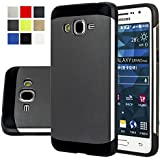 Galaxy Grand Prime Case, Samsung Galaxy Grand Prime Case, AnoKe® Armor Dual Layer Bumper TPU PC hybrid Protective Case For Samsung G531H/DS G531M G530H G5308 (Armor Gray)