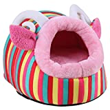 Bestruby Soft Pet House,pet Bed,dog House Fashion Colorful Animals Shape Large Red For Sale