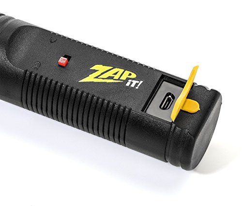 ZAP IT! Bug Zapper - Rechargeable Mosquito, Fly Killer and Bug Zapper Racket - 4,000 Volt - USB Charging, Super-Bright LED Light to Zap in The Dark - Safe to Touch (Mini) by ZAP IT! (Image #3)