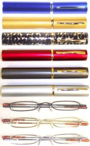 Tube Readers Silver Metal Frame by American Reading Glasses (+3.75, Dark Gray - Glasses In Tube Reading