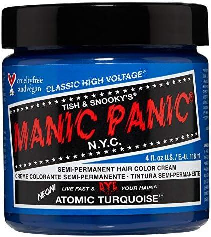Manic Panic - Atomic Turquoise Classic Creme Vegan Cruelty Free Semi-Permanent Hair Colour 118ml