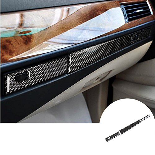 Bmw Glove Box - Carbon Fiber Glove Box & Water Cup Holder Cover For BMW 5 Series E60 2004-2010