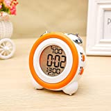Zinnor Toddler Stay-In-Bed Light Clock, Simple LED Cute Mini Portable Alarm Clock - Teaches Child When Ok-to Wake Up + Kids Alarm (Orange)