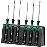 Wera 2035/6 Kraftform MicroSlotted/Phillips Electronics Screwdriver Set and Rack, 6-Piece