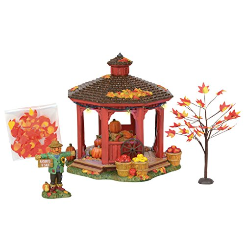 Department56 Department 56 Snow Village Halloween Harvest Gazebo Gift Set (Harvest Gift)