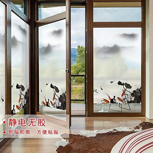 Adhesivos para ventana de celofán de iluminación de cuarto de baño, puerta corredera, cristal, película de balcón eléctrico esmerilado, adhesivo decorativo: Amazon.es: Deportes y aire libre