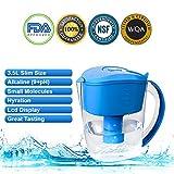 Best Alkaline Water Pitchers - Alkaline Water Pitcher 3.5 Liter, Blue BPA Free,NSF Review