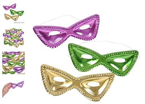 (48) 8'' Cat-Eye Mardi Gras Masks ~ Halloween ~GREAT VALUE! by RIN