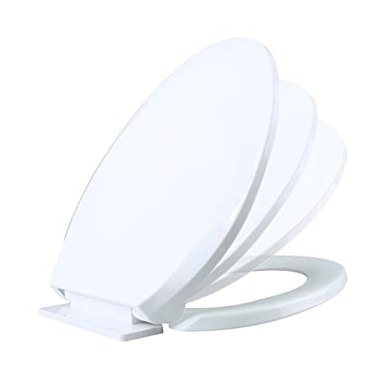Incredible No Slam Toilet Seat Easy Close White Plastic Elongated Comfortable Ergonomic Design Slow Closing Lid System Quiet Durable High Impact Plastic Resists Pdpeps Interior Chair Design Pdpepsorg