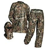 HECS Suit Deer Hunting Clothing with Human Energy Concealment Technology - Camo 3 Piece Shirt, Pants, Headcover - Lightweight Breathable in Mossy Oak Country & Realtree Xtra | Mossy Oak, X-Large