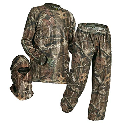 HECS Hunting - Energy Concealing 3-Piece Hunting Suit - Includes Shirt, Pants & Headcover