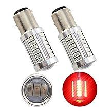 Grandview 2 x 1157 BAY15D 5730 33-SMD Red 900 Lumens 8000K Super Bright LED Turn Tail Brake Stop Signal Light Lamp Bulb 12V