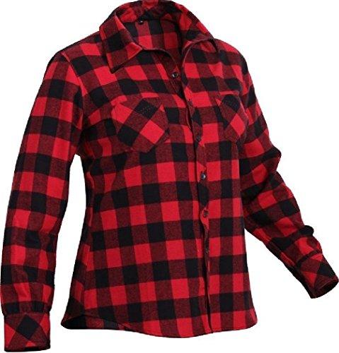 Bellawjace Clothing Flannel Shirts Extra Heavyweight Brawny Buffalo Plaid Flannel Shirt Men & Women ()