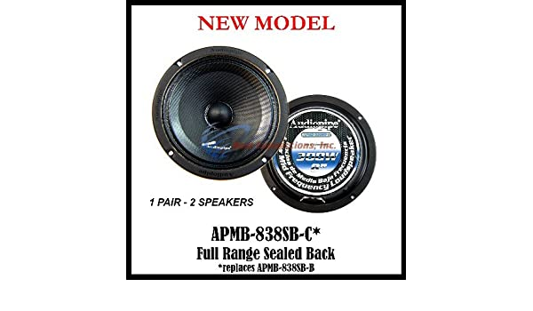 Amazon.com: 1 PAIR AUDIOPIPE SEALED BACK CAR SPEAKER LOW/MID FREQ LOUD 8