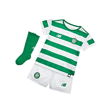 e952c4ea2 New Balance Celtic FC Junior Home Replica Set 2018-19  Amazon.co.uk ...