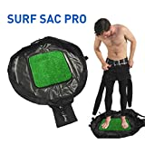 Surf Sac Pro- Wetsuit Changing Mat and Dry Carry Bag With Grass Bottom - Large Waterproof Surf Bag with Drawstring, use as Wetsuit Bag or for Swimsuits - BONUS Shoulder Strap for Hands Free