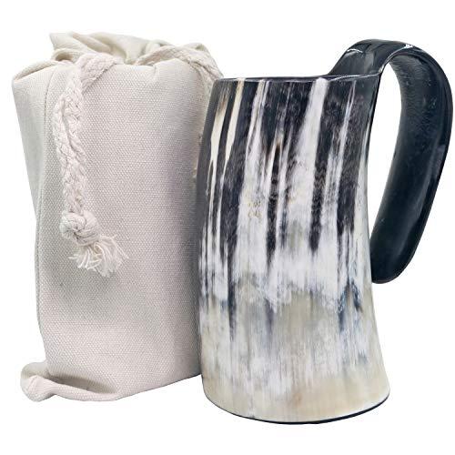Beer Scottish (Viking Drinking Mug-Natural Ox Horn Drinking Mugs Beer Cups Viking Mugs)