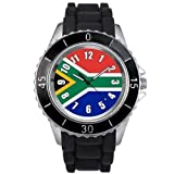 South Africa Country Flag watch with silicone band