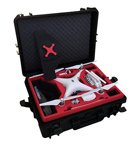Professioneller Koffer - Transportkoffer passend für DJI Phantom 4 Professional Plus (Mit Display) - Platz für 6 Akkus und Zubehör von MC-CASES - Made in Germany - Outdoor Koffer - IP67 Wasserdicht