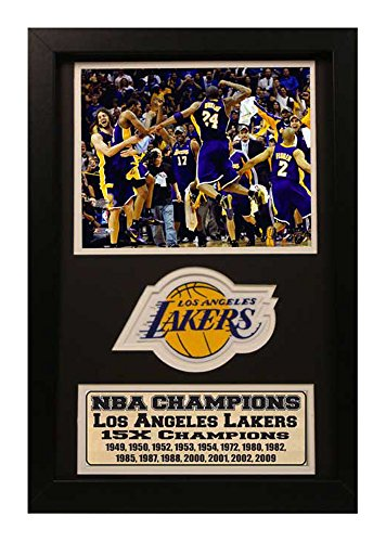 Encore Select 192-16 NBA Los Angeles LakersFramed Sports Memorabilia with a Commemorative Patch and Statistic Plaque, 12-Inch by - Memorabilia Commemorative