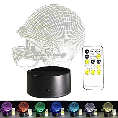 D Lamp Football Helmet Design Night Light For Home Decoration (Party Destination Football)