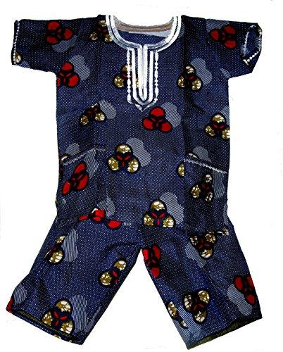 Boys Dashiki Shirts African Shirts Kids Summer Casual Short Sleeve Clothes Tops Size 4-9