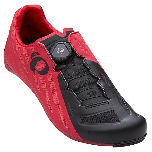 Pearl Izumi Men's Race Road v5 Cycling Shoe, Rogue Red/Black, 43.0 M EU (9.5 US) (Mens Bike Red Shoes)
