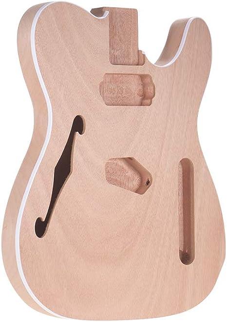 Muslady DIY Cuerpo de Guitarra Electrica Sin Terminar Madera de ...