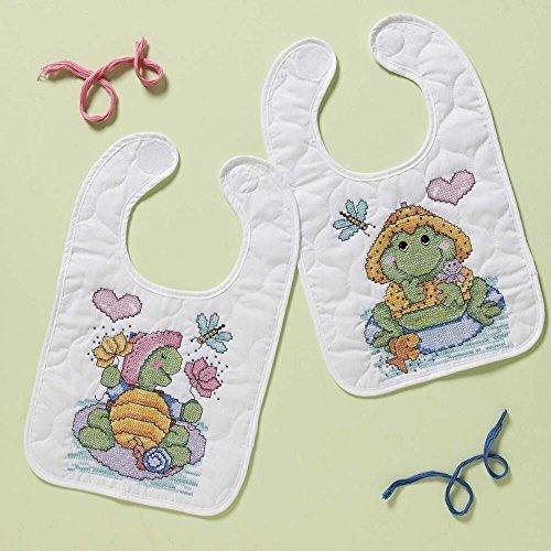 BUCILLA Pond Pals Quilted Bib (Stamped Cross Stitch Quilted Bibs)