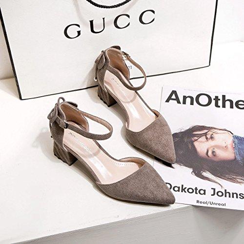 Donyyyy Zapatos superficial, solo zapatos, zapatos de primavera, áspera y rugosa y áspera y señaló sandalias de mujeres. Thirty-six