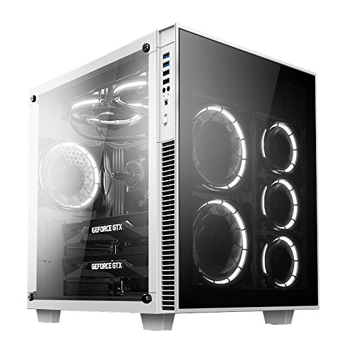 Anidees Ai Crystal Cube Lite White Atx Mid Tower Case