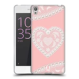 Head Case Designs Heart Laces And Pearls 2 Soft Gel Case for Sony Xperia E5